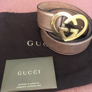 Authentic Gucci Guccissima Rose Gold Belt